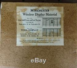 1922 WINCHESTER Store 2-side Advertising 5-Panel Set Display Poster Axes & Tools