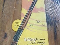 1930 Vintage Remington 12 Gauge Shotgun Rifle Store Window Display Sign Gun Ammo