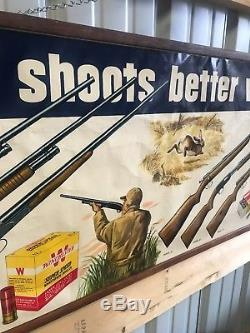 1952 Winchester Dealer Store Advertising Poster Sign Paper Vintage Ad Cool Piece