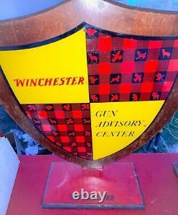 1960s WINCHESTER SPORTING GOOD STORE GUN ADVISORY CENTER STORE DISPLAY SIGN