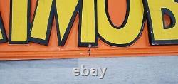 1966 Burry's Aurora Batman Batmobile Model Kit 48 Store Display Sign