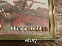 1969 SPEER Wells Fargo Vintage Gun Store Advertising Bullet Sign Board Display