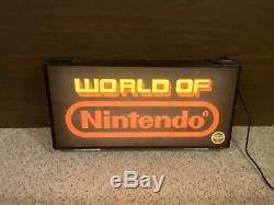 1980's world of Nintendo with seal retail store display lighted sign