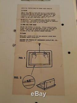 1987 ROBOCOP Vintage BAKER & TAYLOR MOVIE VIDEO STORE Light Up DISPLAY SIGN
