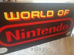 1989 Vintage World Of Nintendo Fiber Optic Sign 36x17x8 two sided Amazing