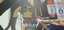 1991 ELVIRA & COORS BEER Life-Size CARDBOARD In-Store Display STANDEE w Orig BOX