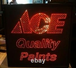 1994 ACE QUALITY PAINTS Fiber Optic Advertising Store Display MOTION Sign