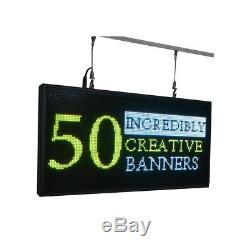 27x 14 Full Color Programmable Window LED Sign Display Images Animations Text
