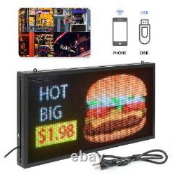27x14 Multicolor Window LED Sign Programmable Images Display Animations Text