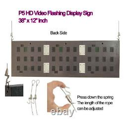 38x 12 Full Color Video P5 HD LED Sign Programmable Scrolling Message Display