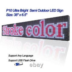 38x 6.5 Full Color Semi Outdoor LED Sign Programmable Scrolling Message Board