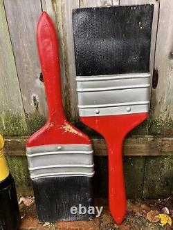 4 Vintage Hardware Store Giant Tool Signs, Screwdiver 6ft, Paintbrushes, Hammer