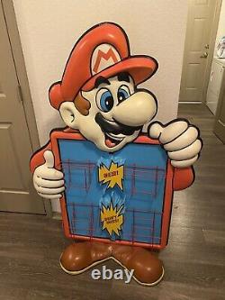 4ft Super Mario Nintendo Power Rack Store Display Sign Promo Rare Merchandising