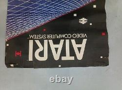 ATARI star raiders Reklame Store Display Werbung sign schild Banner kiosk poster