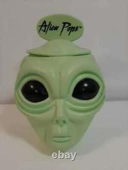 Alien Pops Store Display Lollipop Container Complete with Lid & Alien Pop Sign