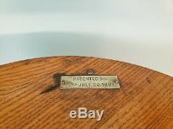 Antique 1897 Merricks 6 Cord Spool Display Rotating Cabinet General Store Sign