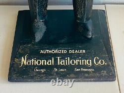 Antique 31 National Tailoring Co 20s Rubber Store Advertising Display tuxedo