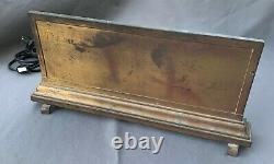 Antique Original Brass Bronze Store Display Lighted Sign Handkerchiefs Rewired