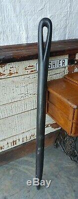 Antique Oversized Trade Display 49 Wood Sewing Needle Sign Spool Cabinet Store