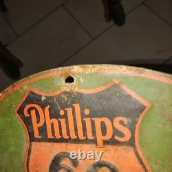 Antique Phillips 66 battery cable rack or display
