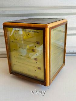 BEAUTIFUL 30s 40s Ace Combs Spinning Store Counter Advertising Display drawers