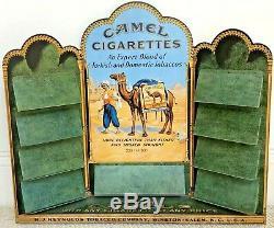 BRILLIANT VINTAGE c. 1930's CAMEL CIGARETTES METAL COUNTER-TOP DISPLAY RACK