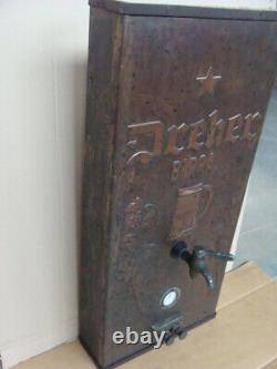 Birra Dreher Spillatore In Rame Insegna Anni 30 Per Pub Birreria Old Sign Bier