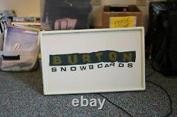 Burton Snowboard Wall Advertising light up Sign