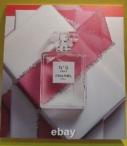 Chanel No 5 L'eau Perfume Store Display Plastic Sign New Very Rare Paris France