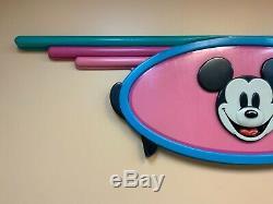 Disney Store Display Vintage 90s Display Mickey Mouse Huge Prop Sign Disneyland