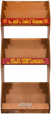 EXTREMELY RARE DC COMIC BOOK STAND Advertising News Stand Display Rack Sign