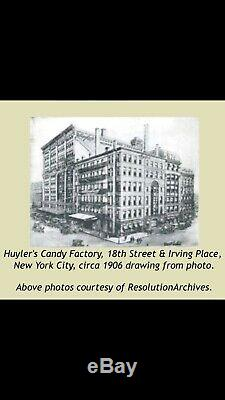 Early 1900s Antique New York Huylers Candie Tin Sign Store Display Chocolate