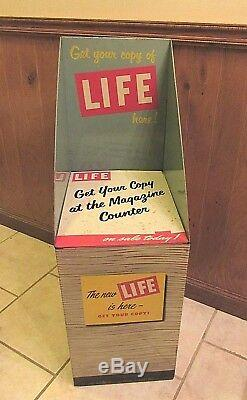Extraordinarily Rare Tin Litho LIFE Magazine Store Display Stand Rack ca. 1950's