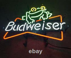Frog Real Glass Store Display Artwork Gift Wall Boutique Neon Sign
