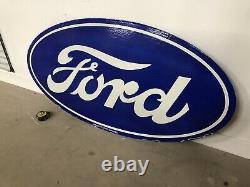 Grande Plaque Emaillee Ford Enamel Sign Emailschild Porcelain