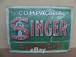 INSEGNA SINGER MACCHINA DA CUCIRE TARGA PROMO EPOCA OLD SIGN misura 48x34 cm