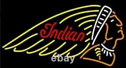 Indian Motorcycle Advertising Display Beer Bar Neon Light Sign Pub Store 17x14