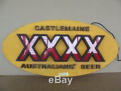 Insegna Australians Beer XXXX Castelmaine Sign Pub Birra Vintage