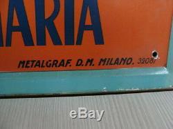 Insegna Battaglia Del Grano Targa Litografata Anni 20 Metalgraf Old Sign Italy