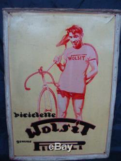 Insegna Biciclette Wolsit Gomme Pirelli Girardengo Old Sign