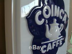Insegna Caffe' Coinca Bar Espresso Cooffe Targa Luminosa Old Sign Italy