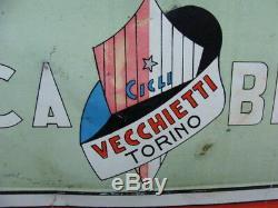 Insegna Fabbrica Biciclette Vecchietti Torino Old Sign Eroica