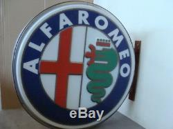 Insegna Luminosa Alfa Romeo Milano Giulia Alfa Sprint Giulietta Vintage Old Sign