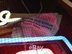 Insegna Omsa Anni'50 Mai Usata! Old Sign Neon Calze Socks Woman Banner Promo