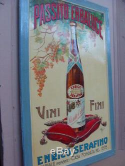 Insegna Passito Erbaluce Enrico Serafino Canale Old Sign