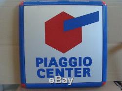 Insegna Piaggio Center Per Vespa Ape Ciclomotori Ciao Old Sign Italy