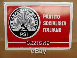 Insegna Psi Partito Socialista Italiano Vintage Sign Plastic