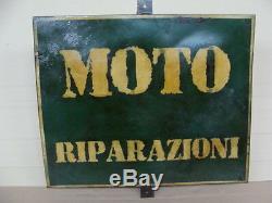 Insegna Riparazioni Moto Cartello Targa Sign