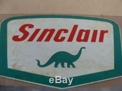 Insegna Sinclair oils olio lubrificante old sign vintage per Fiat Lancia Alfa