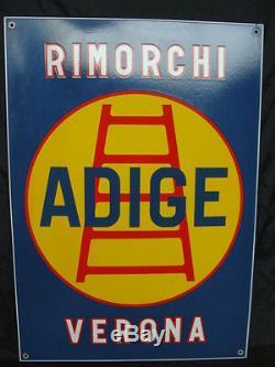 Insegna Smaltata Rimorchi Adige Verona Per Camion Sign